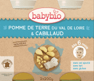 2x BABYBIO Menu brambory s treskou 200 g