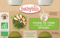 2x BABYBIO Ziemniaki ze szpinakiem 4m+ (130 g)
