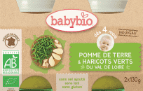 2x BABYBIO Brambory s fazolkami 130 g