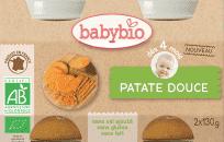 BABYBIO Słodkie ziemniaczki 4m+ (2x130 g)