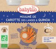 BABYBIO Marchewkowe mouliné i quinoa 8m+ (2x200 g)