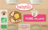 BABYBIO Příkrm hruška Williams 2 x 130g