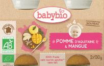 BABYBIO Príkrm jablko mango 2 x 130 g