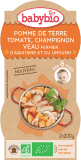 2x BABYBIO Brambory s rajčatovým pyré, žampióny a telecím masem 200 g