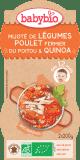 BABYBIO Menu zelenina s kuřecím masem a quinoa 2 x 200 g