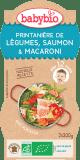 2x BABYBIO Menu jarní zelenina s lososem a makarony 200 g