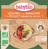 BABYBIO Menu zelenina s kuřecím masem a rýží 260 g