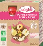 BABYBIO Kapsička jablko hruška broskev 4 x 90 g