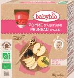 BABYBIO Kapsička jablko slivka (4x90g) – ovocný príkrm