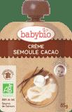BABYBIO Kremowa kaszka z kakao 8m+ (4x85 g) – deserek w tubce