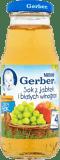 GERBER 100% sok z jabłek i białych winogron 4m+ (300ml)