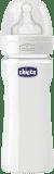 CHICCO Láhev Well-Being skleněná silikonový dudlík 240 ml