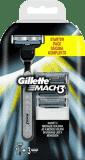 GILLETTE Mach 3 holící strojek + hlavice 3ks