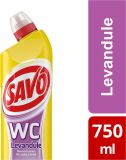 SAVO WC Levanduľa čistiaci prípravok na toalety, 750 ml