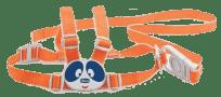 CHICCO Szelki zabezpieczające do nauki chodzenia – pomarańczowe
