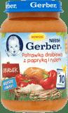 GERBER Potrawka drobiowa z papryką i ryżem (190g)