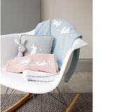 MAMAS&PAPAS Pletená deka 70x90 cm – králíčci růžová