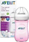 AVENT Butelka niemowlęca Natural 260 ml + Natural 260 ml – różowa
