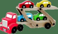 BINO Laweta z autami (9 częsciowy)