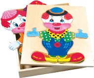 BINO Šatní skříň velká - klaun