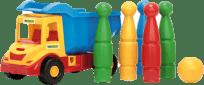 WADER Auto multitruck s kuželkami - plast WADER