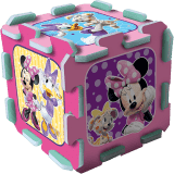 TEDDIES Puzzle piankowe Minnie 8 szt.