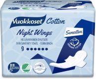 VUOKKOSET Cotton Night Wings (9 ks) – dámské vložky
