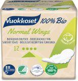VUOKKOSET 100% Bio Normal Wings Thin (12 ks) – dámské vložky