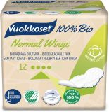 VUOKKOSET 100% Bio Normal Wings Thin (12 ks) – dámske vložky