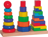 WOODY Zestaw 3 wieże do składania