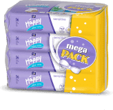 4x BELLA HAPPY BABY Vlhčené ubrousky sensitive s aloe vera 56 ks, MEGA PACK