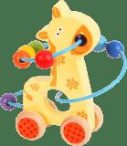 BIGJIGS Motoryczny labirynt na kółkach – Żyrafa