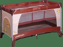 PATRON Cestovná postieľka Skippy Plus 2018 – Owl brown