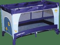 PATRON Cestovná postieľka Skippy Plus 2018 – Owl blue