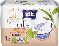 BELLA Herbs Plantago Sensitive, 12 ks - prodyšné hygienické vložky