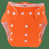 BOBOLIDER Plenkové kalhotky ECO Bobolider B17 – oranžové, vložka z mikrovlákna