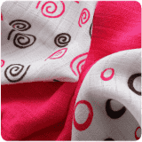 KIKKO Bambusové ubrousky Spirals&Bubbles 30x30 (9 ks) – magenta
