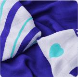 KIKKO Bambusové ubrousky Hearts&Waves 30x30 (9 ks) – ocean blue