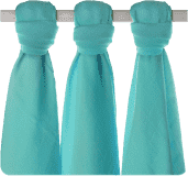 KIKKO Pieluszki bambusowe Colours 70x70 (3 szt.) – turquoise