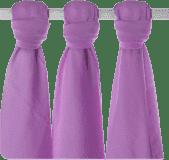 KIKKO Bambusové pleny Colours 70x70 (3 ks) – lilac