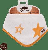 KIKKO Bambusový slintáčik/šatka Stars (1 ks) – orange