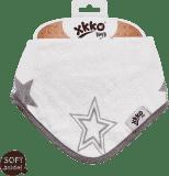 KIKKO Bambusový slintáček/šátek Stars (1 ks) – silver