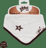 KIKKO Bambusový slintáček/šátek Stars (1 ks) – natural brown