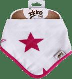 KIKKO Bambusový slintáček/šátek Stars (1 ks) – magenta
