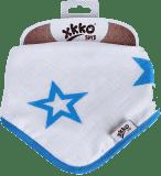 KIKKO Bambusový slintáček/šátek Stars (1 ks) – cyan