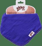 KIKKO Bambusový slintáček/šátek Colours (1 ks) – ocean blue