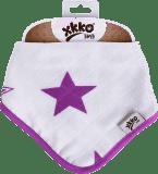 KIKKO Bambusový slintáček/šátek Stars (1 ks) – lilac