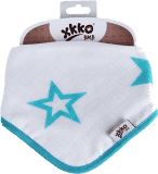 KIKKO Bambusový slintáček/šátek Stars (1 ks) – turquoise