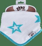 KIKKO Bambusový slintáčik/šatka Stars (1 ks) – turquoise