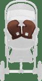 CAM Zimowe rękawice do wózka, brązowe, col. A